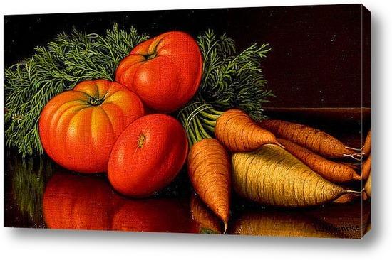 натюрморт с помидорами: