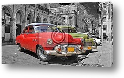 Постер Colorful Havana cars panorama