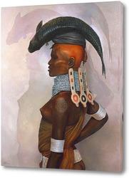 Картина Женщина с рыбой