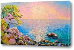Картина Рассвет на Крымском побережье