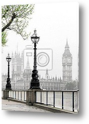 Постер Big Ben & Houses of Parliament, idyllic view