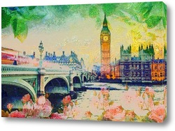 Постер Лондон летом