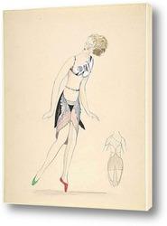Постер Танцовщица, кубизм костюмы