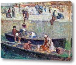 Парусники около гавани