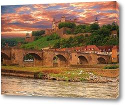 Картина Замок над городом.