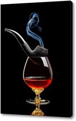 Постер Коньяк и курительная трубка