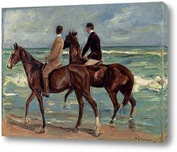Картина Два всадника на пляже