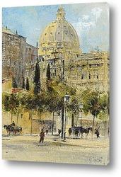 Постер Рим, площадь Ангелики