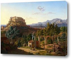 Картина Пейзаж с замком Масса ди Каррара