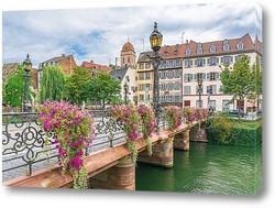 Картина Мостик в Страсбурге