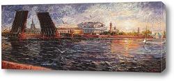 Картина Дворцовый вид и два моста