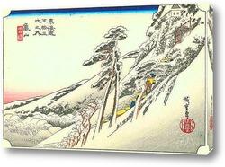 Картина 46-я станция: Камеяма. Ясная погода после снегопада