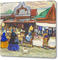 Картина У ворот Троице-Сергиевой лавры