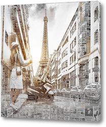 Постер Париж в мечтах