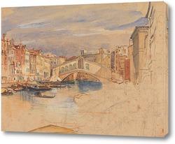 Картина Венеция-Гранд-канал и Риальто