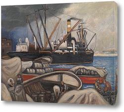 Картина Лодки в порту