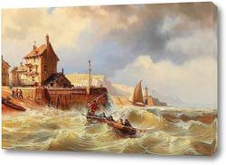 Картина Бурные моря от Малого порта
