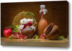 Свежие груши на деревянном столе