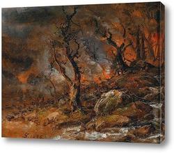 Извержение Вулкана Везувий, 1821