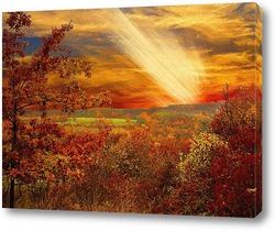 Постер осенний закат