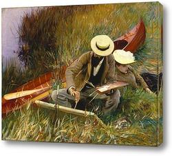Мужчина на гамаке, Флорида, 1917