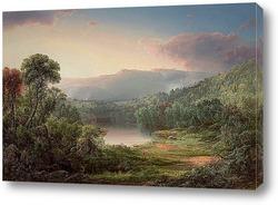 Картина Утренний Туман, Водоем