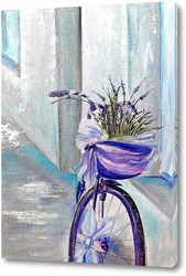 Картина Велосипед с лавандой