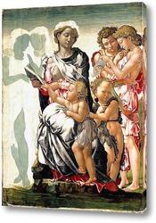 Картина Мадонна с ребенком, Святым Иоанном и ангелами