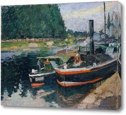 Картина Баржи в Понтуазе
