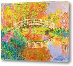 Картина Японский пешеходный мост, Живерни