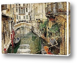 Channels of Venice - artwork in painting style