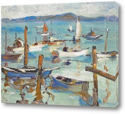 Картина Пришвартованные лодки