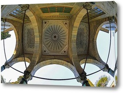 Постер Дворец Топкапы. Потолок входной арки. Стамбул
