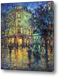 Дождливая ночь в Париже