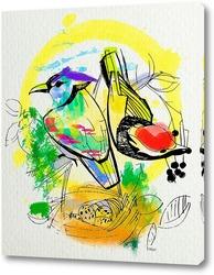 Картина Акварельные пташки