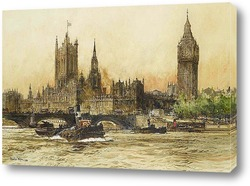 Картина Дом парламента на Темзе
