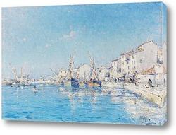 Постер Южный французский рыбный порт Мартига