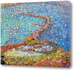 Картина Между морем и морем. Коса Тузла.