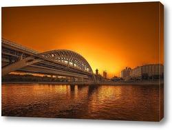 Постер Железнодорожный мост в Москве