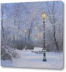 Картина  Огни зимнего вечера ...