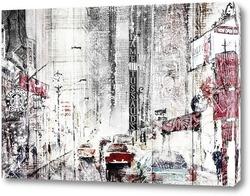 Картина Город. Акварель