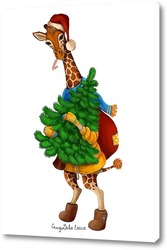 Картина Жираф Мариус и ёлка