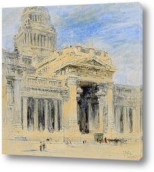Постер Брюссель: здании суда