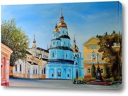 Постер Вид на Свято-Покровский мужской монастырь