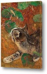 Гончая, охота на лису  осень
