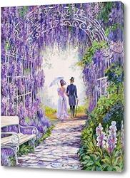 Картина В цветущем парке