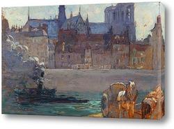 Картина Нотр дам на Сене,Париж