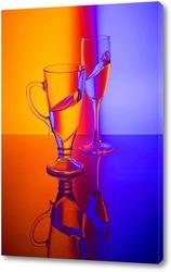Постер Этюд с бокалами