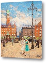 Постер Ратушная площадь, Копенгаген