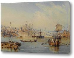 Постер Константинополь от входа в бухту Золотой Рог